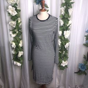 Velvet Torch Striped Long Sleeve Dress